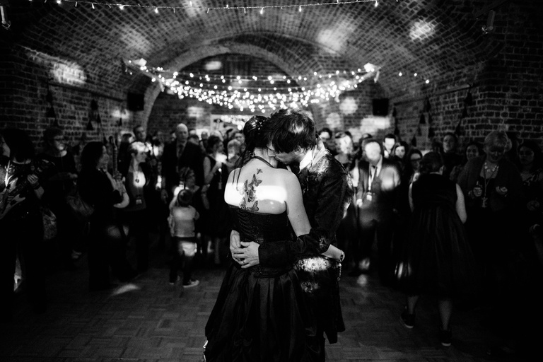 first dance at RSA Vaults London wedding venue