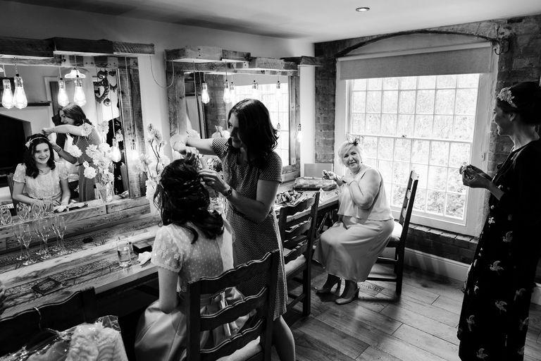 wedding morning prep