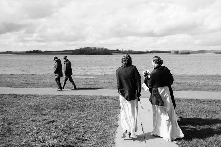 bridesmaids on rutland water