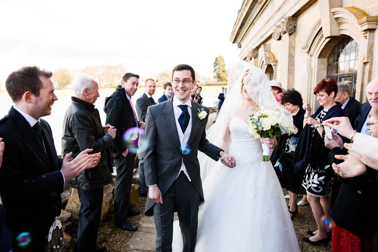 bride and groom at normanton church