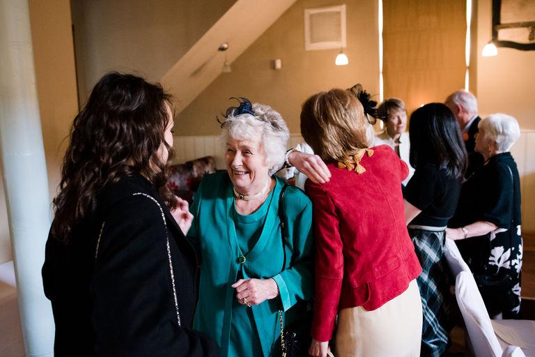 guests mingling at venue