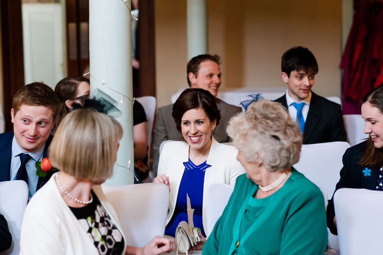 happy guests after ceremony