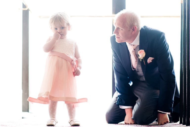 best man with flower girl