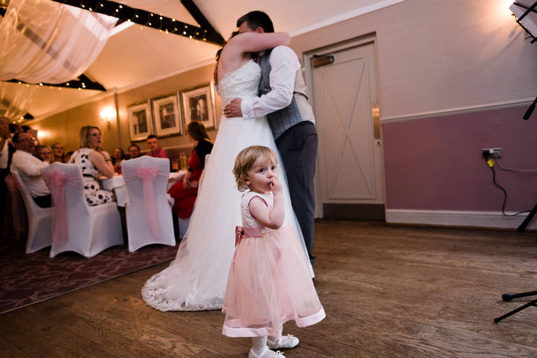 little girl during first dance