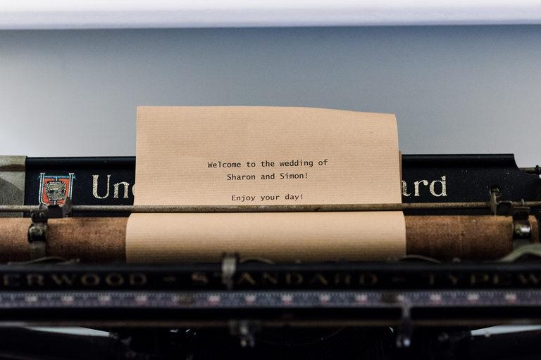 type writer wedding prop