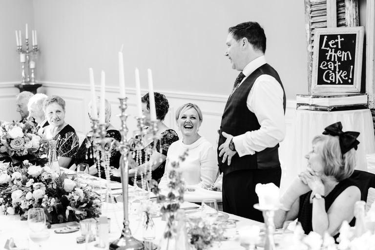 laughter during grooms speech