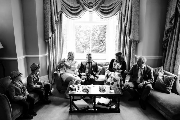 guests relaxing before wedding