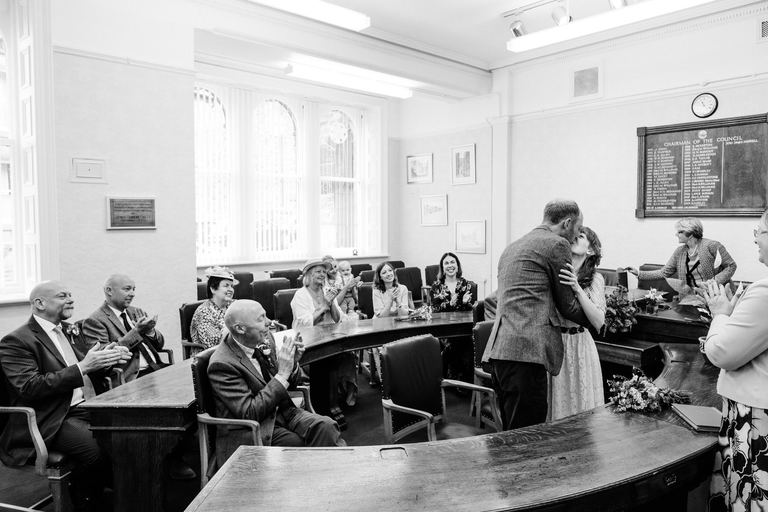 just married at new mills registry office