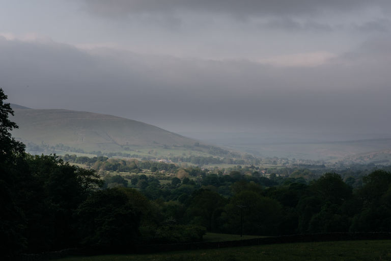 last of the sunlight across the valley