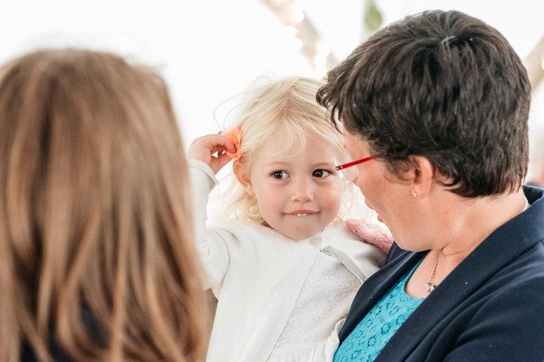 cute little girl at a wedding