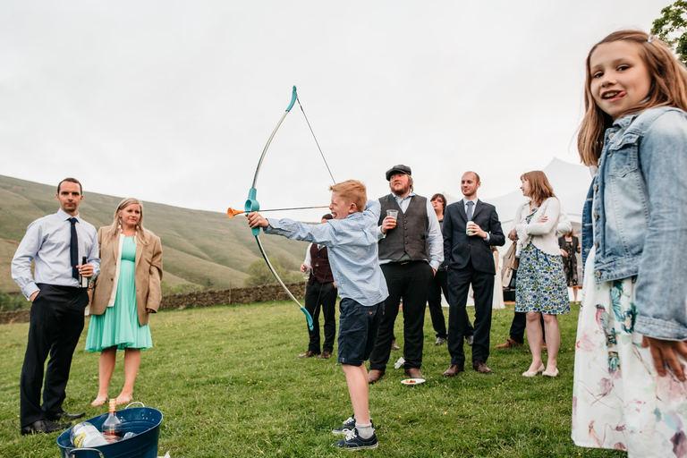 wedding archery contest
