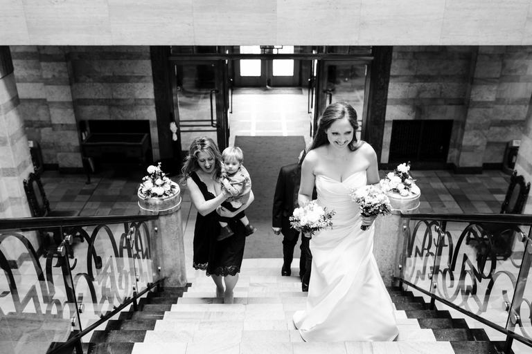 bride arriving at derby council house