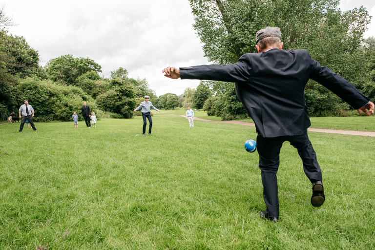 wedding games football rounders