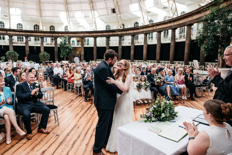 just married at the devonshire dome