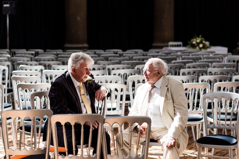 elderly gentleman having a quiet chat
