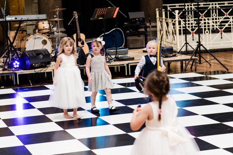 kids dance off on the dance floor