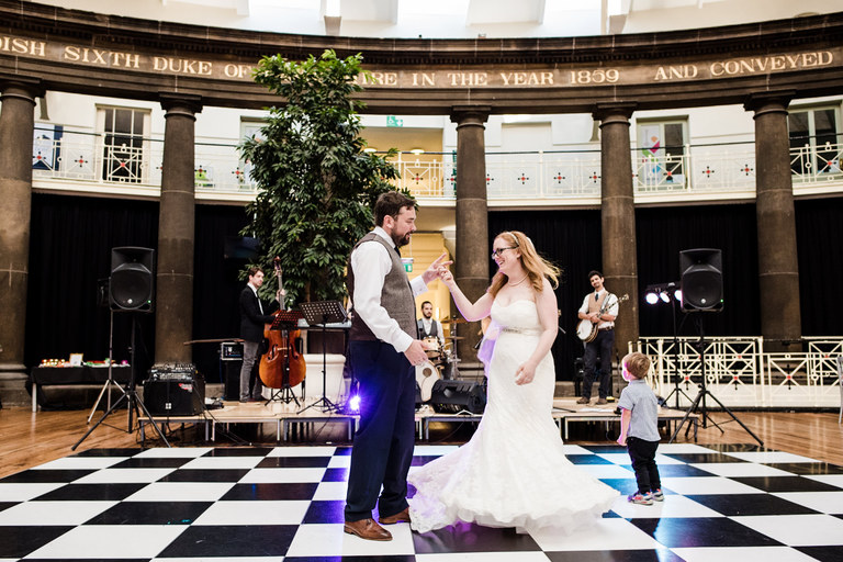 first dance in the dome to a live band
