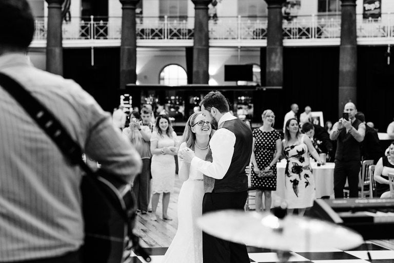 smiling during first dance