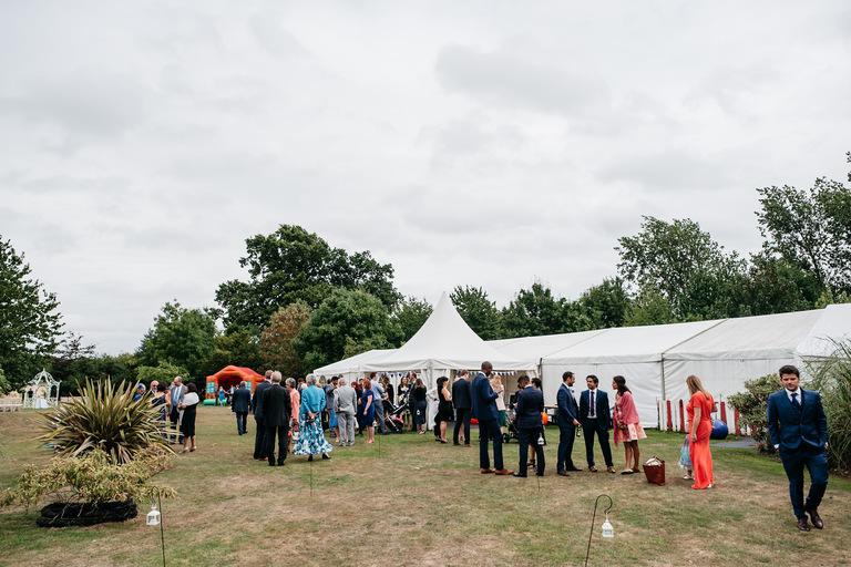 marquee wedding in hertfordshire