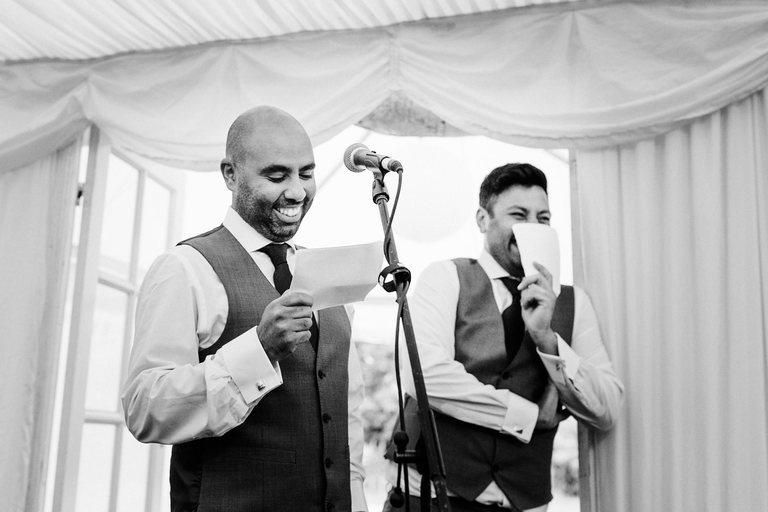 best men giving their joint speech