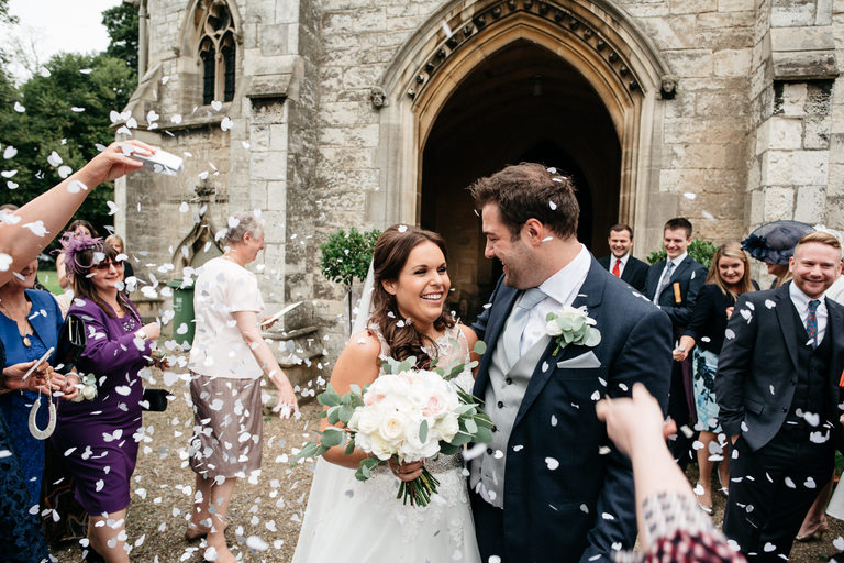 confetti shot at St Helen's church in escrick