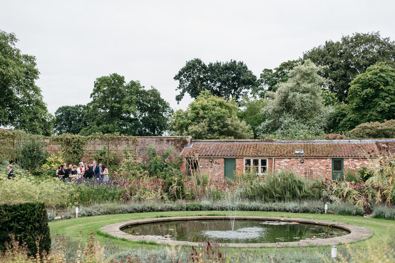 circular pond at skipwith hall gardens
