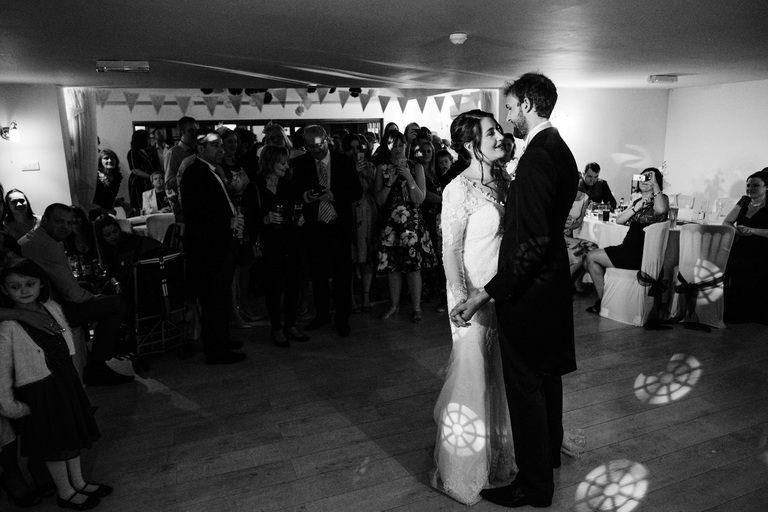 Romantic moment during the first dance