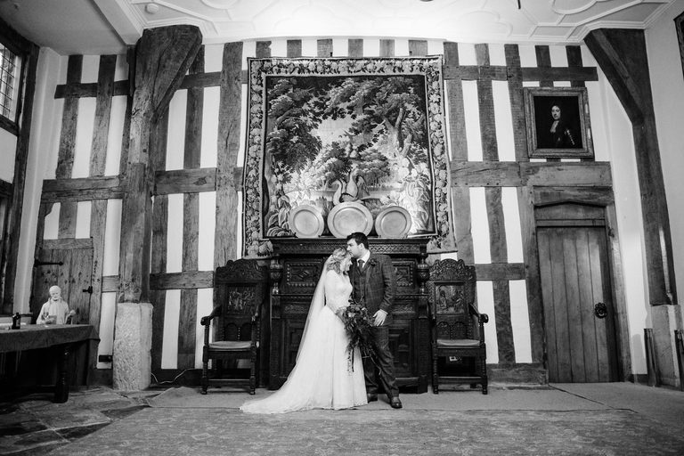 relaxed couples portrait at birtsmorton court