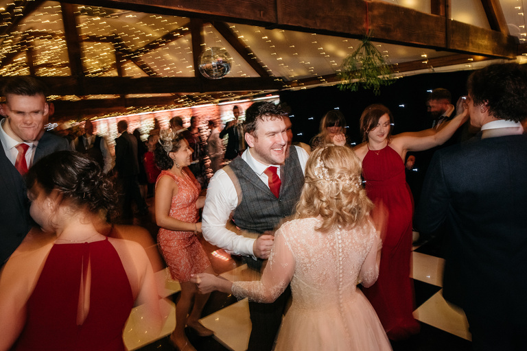 groom dancing with his new wife