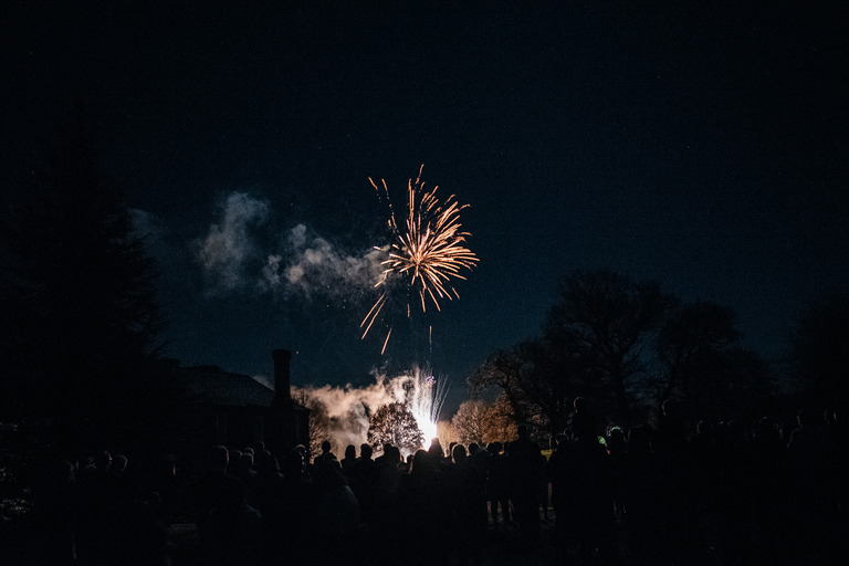 fireworks at birtsmorton court