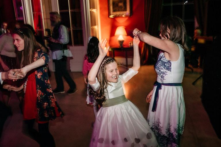 flower girl dancing