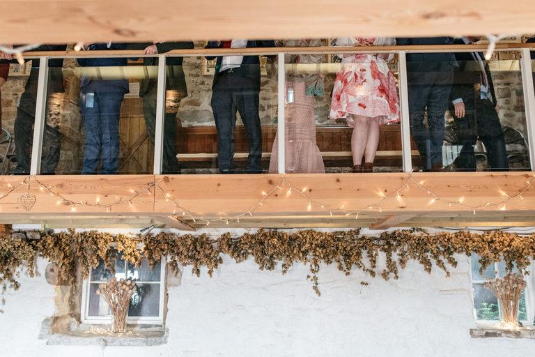 guests waiting upstairs at beechenhill