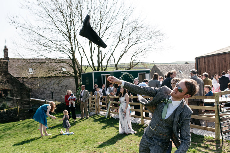 groom welly throwing