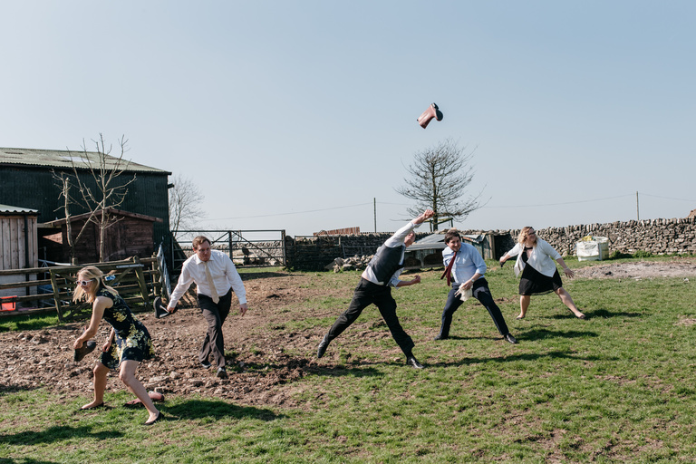 group welly throwing