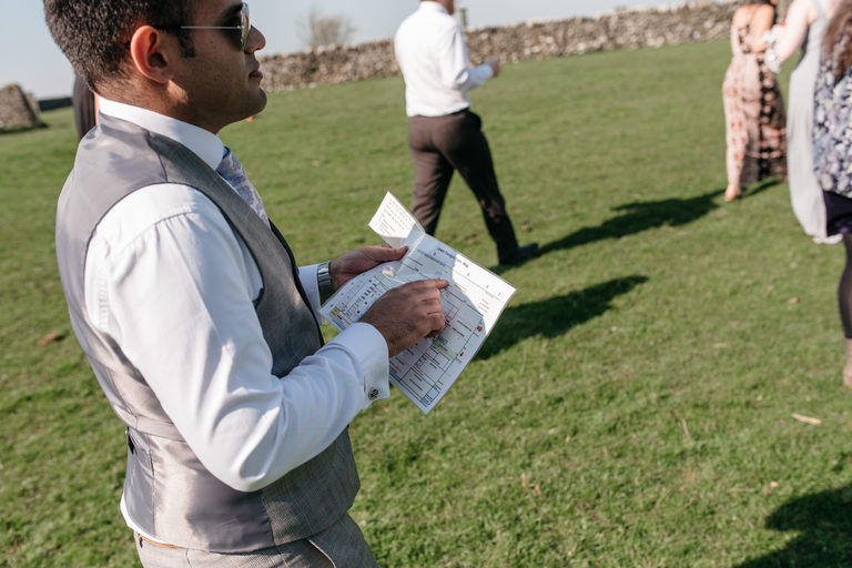 guest using a treasure map