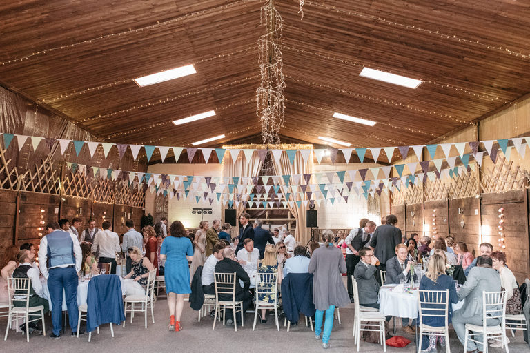 interior of damgate farm wedding venue