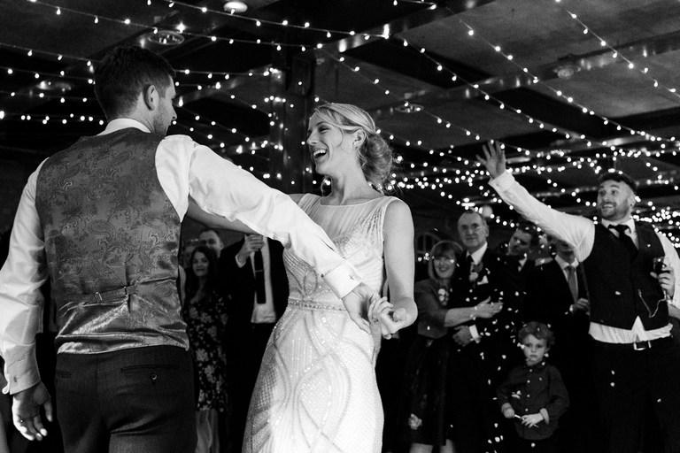 fun couple on the dancefloor