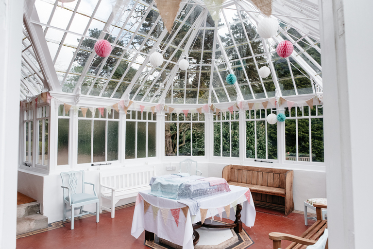 Interior of conservatory