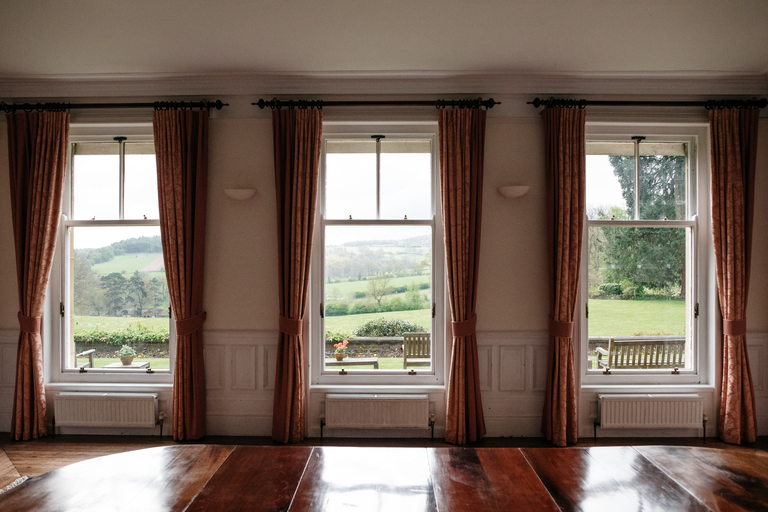 Three windows in the dining room