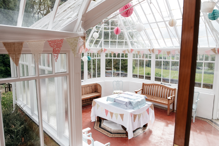 View into the conservatory