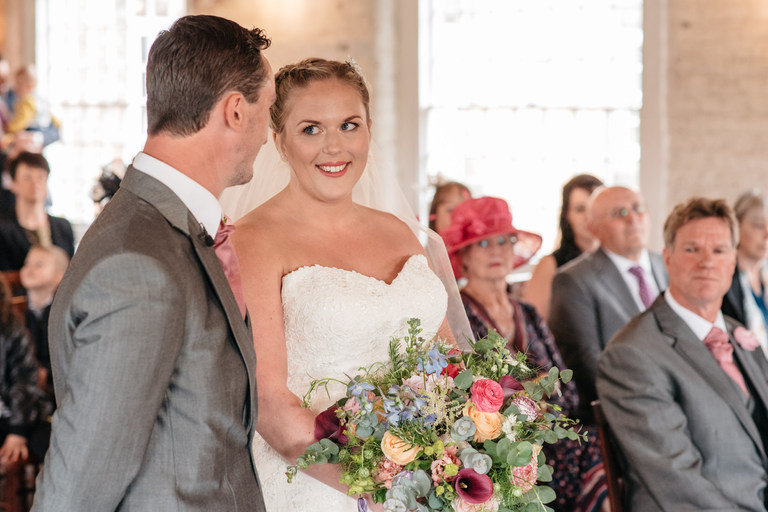 a spring wedding at the west mill
