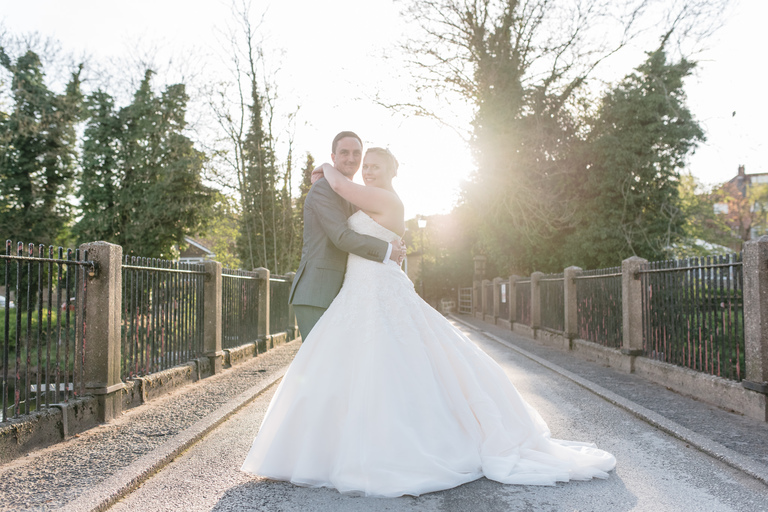 sunset portraits outside darley abbey mills