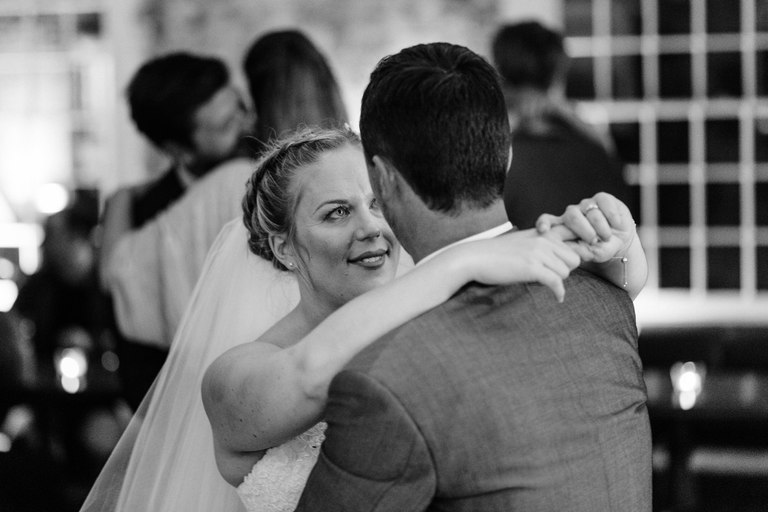 couple share a moment on the dance floor
