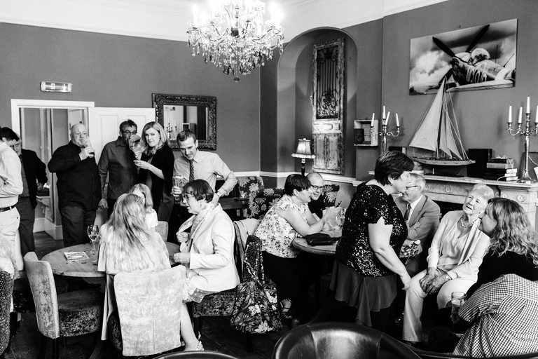 wedding reception at derby book cafe