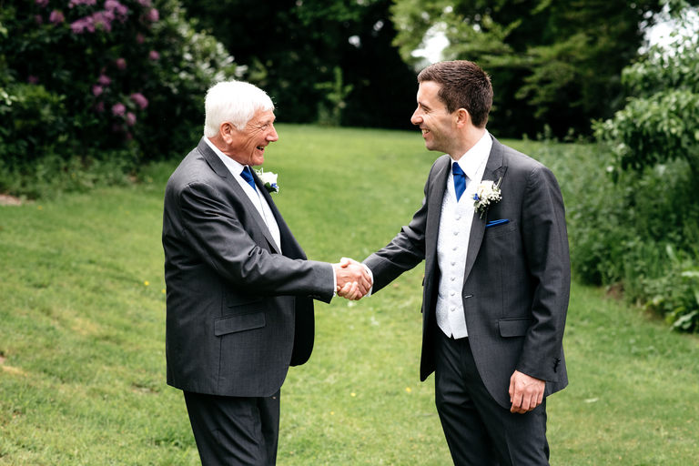 groom meets father in law