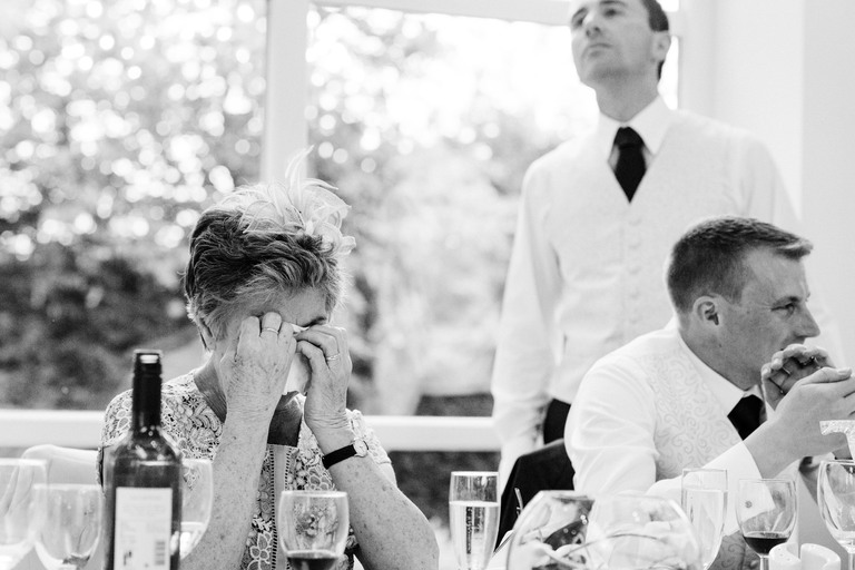 mum crying during speech