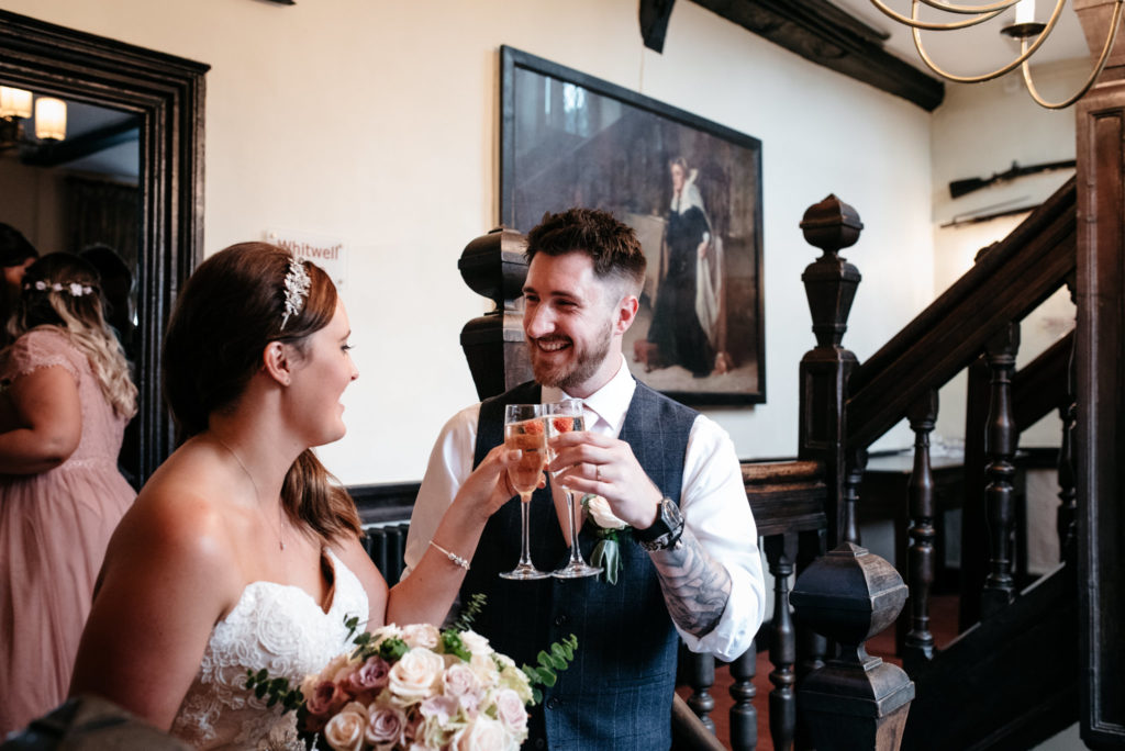 champagne toast after the ceremony