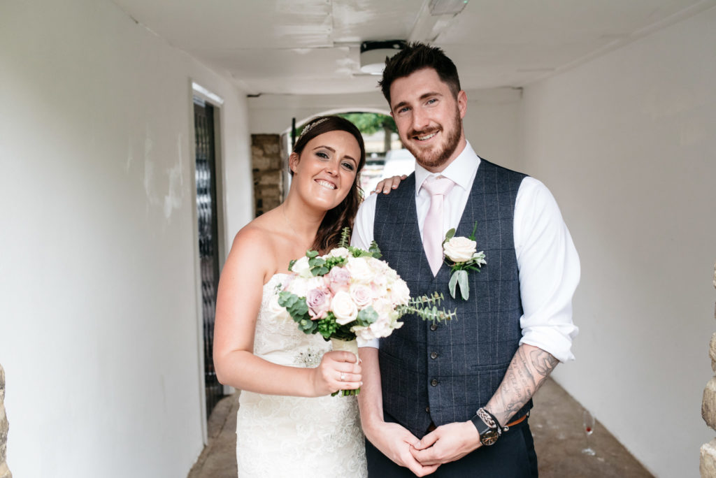 relaxed and happy wedding portrait