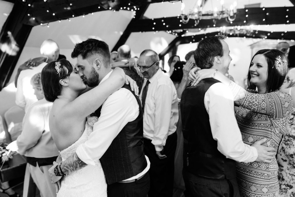 guests join the dance floor