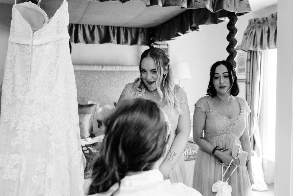 bridesmaids joking around